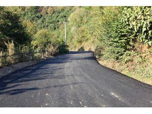 Sıcak asfalt serim işlemleri sürüyor