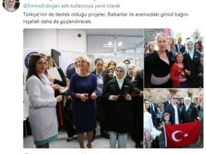 Emine Erdoğan Twitter'dan ilk paylaşımını yaptı