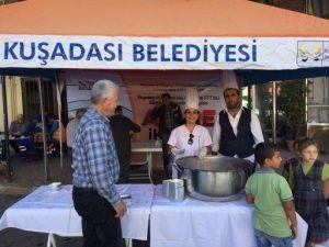 Kuşadası Belediyesinden 5 bin kişilik aşure ikramı