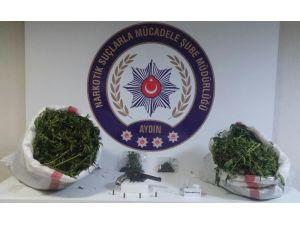 Aydın'da 7,4 kilo esrar yakalandı