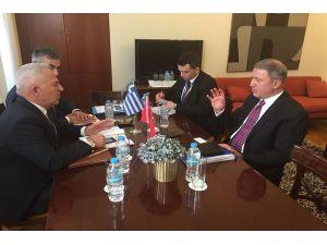 Genelkurmay Başkanı Orgeneral Akar, Yunan mevkidaşıyla görüştü