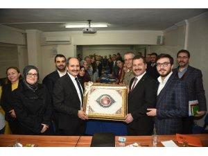 Başkan Yılmaz'dan siyasi parti il başkanlarına ziyaret