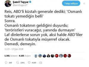 """Şamil Tayyar'dan, Erdoğan'ın """"Osmanlı tokadı"""" cevabına destek"""