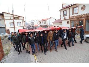 Narman'da Zeytin Dalı Harekatına destek yürüyüşü yapıldı