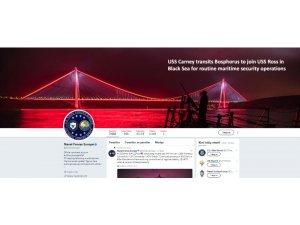 """ABD Donanmasından """"3. köprü"""" paylaşımı"""