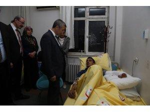 Belediye Başkanı Tahmazoğlu, yaralı askeri ziyaret etti