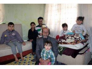 Ayaklarını kaybeden Türkmen yüzbaşı 13 kişilik ailesiyle Kayseri'ye sığındı