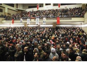 TOKİ kurasına başvuru yapan vatandaşlar salona sığmadı