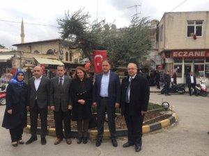 Vali Kalkancı ve Başkan Kutlu Mehmetçiğe destek için Kilis'e gitti