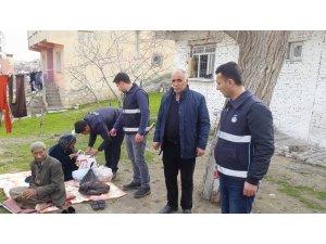 Silvan'da Suriyeli aileye zabıta desteği