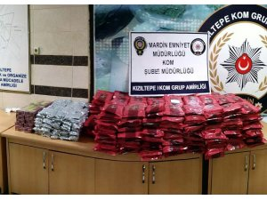 Kızıltepe'de 41 bin paket gümrük kaçağı sigara ve 443 kilogram nargile tütünü ele geçirildi