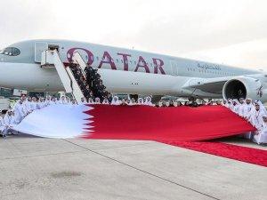 'Dünyanın en güçlü uçağı' Airbus A350-1000 Katar'da