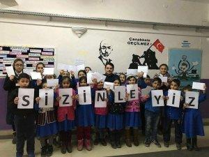 Afrin'de görev yapan Mehmetçiklerden öğrencilere mektup