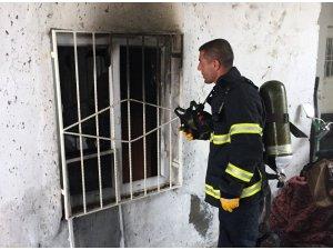 Midyat'ta ev yangını