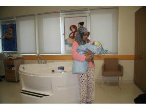 Şehir hastanelerindeki ilk suda doğum pilot il Isparta'da gerçekleştirildi