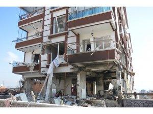 Kırıkkale'deki doğalgaz patlamasında sokak savaş alanına döndü