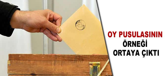 İttifakın oy pusulası örneği ortaya çıktı