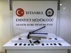 İstanbul'da cep telefonu bayilerini soyan hırsızlık çetesi çökertildi