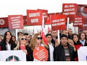 HAK-İŞ Konfederasyonu 15 Temmuz davaları nöbetine devam ediyor