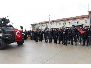 Batman'da Polis Özel Harekat timleri dualarla Afrin'e uğurlandı