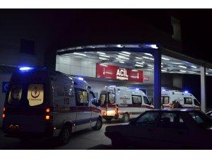 Kozan İlçe Jandarma Komutanlığında çıkan yangında 8 asker zehirlendi