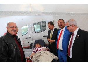 Mersin'de Mehmetçiğe kan bağışı