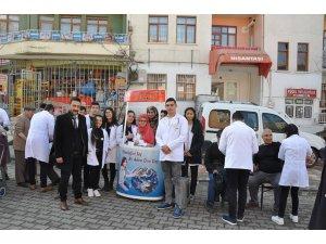 Sungurlu'da öğrenciler halkın nabzını ölçtü