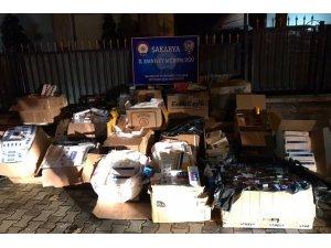 Sakarya'da 17 bin 279 paket kaçak sigara ele geçirildi