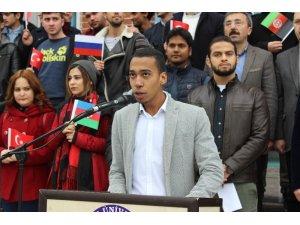 Yabancı uyruklu öğrencilerden 'Zeytin Dalı Harekatı'na destek açıklaması