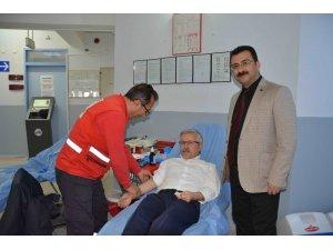 Ortaca'da eğitimcilerden kan bağışı