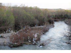 Sular çekilince çevre kirliliği ortaya çıktı