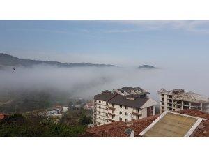 Amasra'da yoğun sis hayatı olumsuz etkiliyor