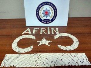 """Polis yakaladığı uyuşturucu hapları """"Afrin"""" yazarak sergiledi"""