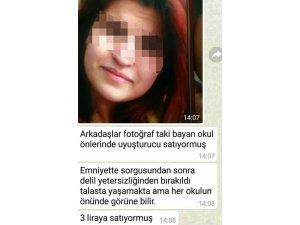 Okul önlerinde uyuşturucu sattığı iddia edilen bir kadın gözaltın alındı
