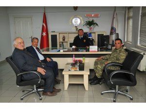Başkan Akkaya'dan İlçe Emniyet Müdürü Bağcı'ya ziyaret