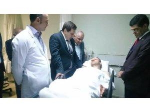 Vali Küçük'ten yaralı öğretmenlere ziyaret