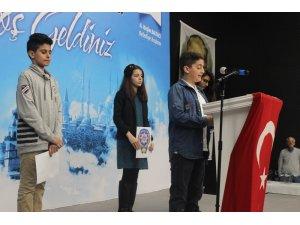 Polis çocukları, babaları için şiir okudu