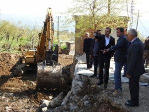 Şırnak Belediyesi dere ıslah çalışmalarına başladı