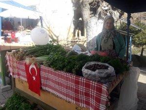 Dağların şifalı bitkileri tarihi Kavaklı köy pazarında