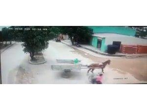 Kolombiya'da motosiklet at arabasına çarptı: 1 ölü