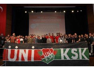 Pınar Karşıyakalı basketbolcular Yaşarlı öğrencilerle buluştu