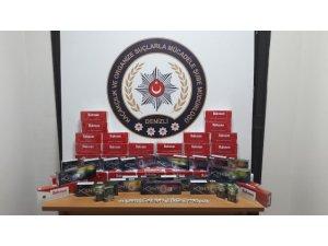 112'ye gelen kaçak sigara ihbarını değerlendiren polis uyuşturucu hap ele geçirdi