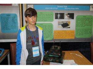 Ortaokul öğrencisinden 'insansız tank' projesi