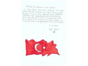Miniklerden Mehmetçiğe teşekkür ve destek mektubu