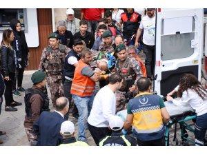 Mardin'de çatıda görevli polis memuru düştü