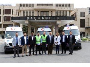Eyüpsultan Belediyesi 3 yeni hasta nakil aracını hizmete aldı