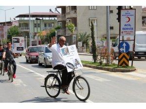 Sarıgöl'de sağlıklı yaşam bisiklet turu