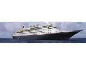 Dünya turuna çıkan ünlü turist gemisi Kuşadası'nda