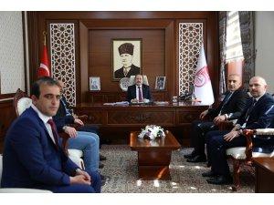 Esnaf Kredi Kefalet yönetim kurulu üyeleri Vali Ali Hamza Pehlivan'ı ziyaret etti