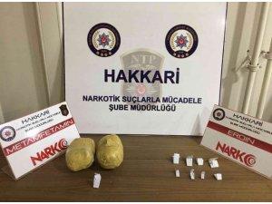 Yüksekova'da uyuşturucu operasyonu